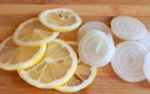 Лук с лимоном