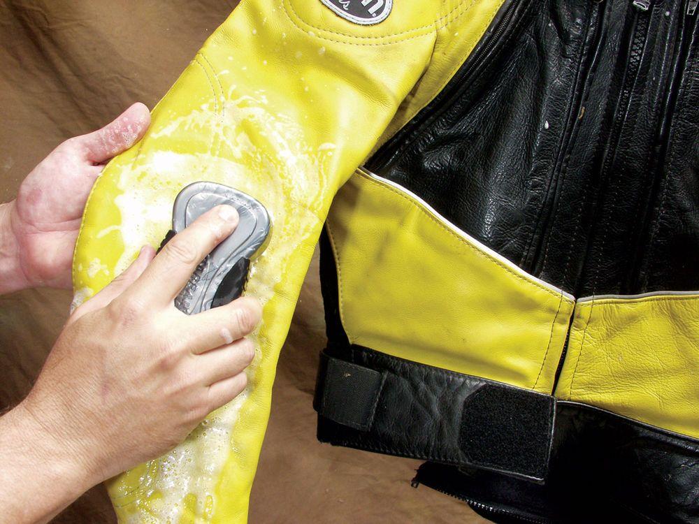 Очистка кожаной куртки
