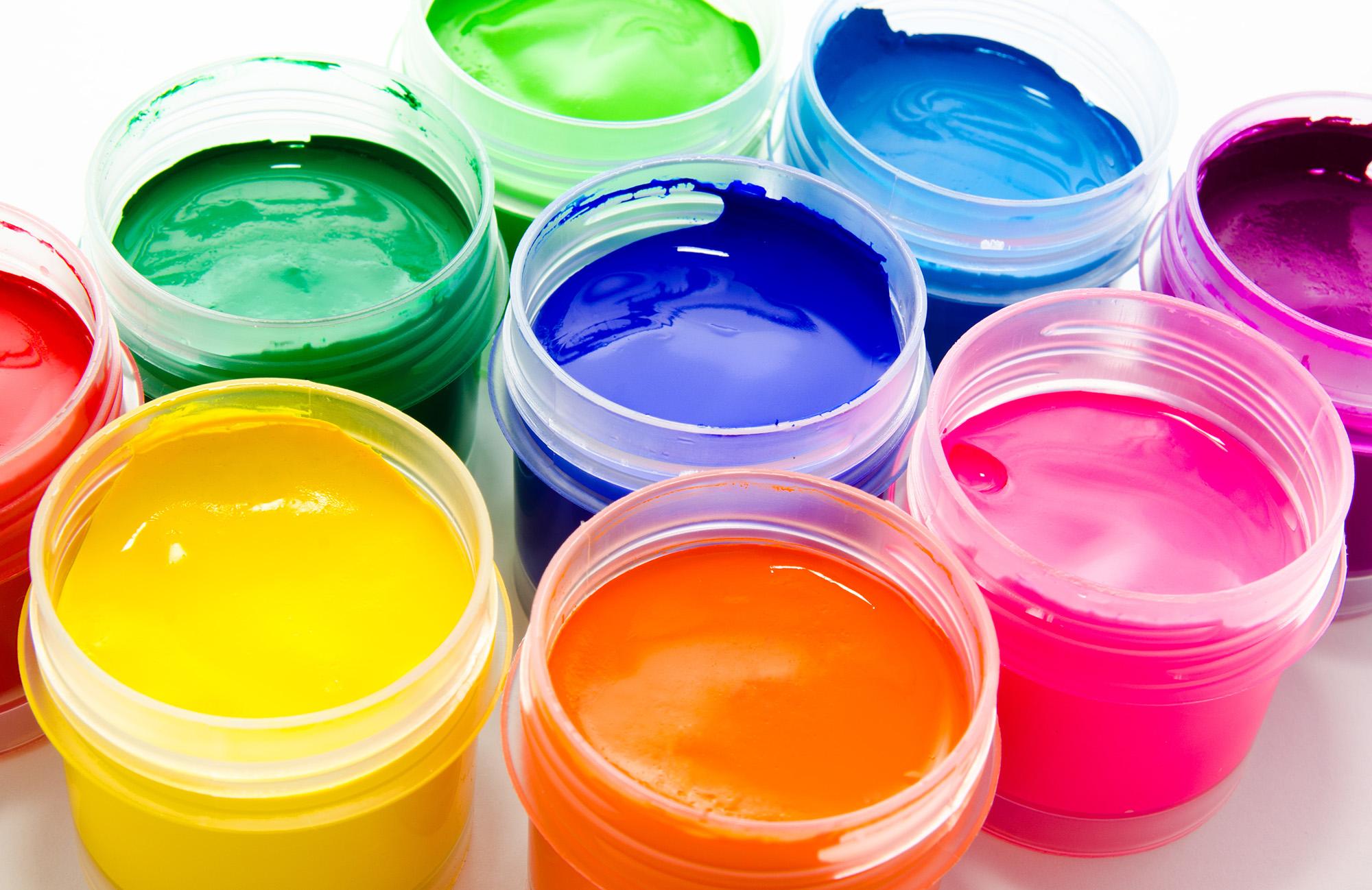 Картинки разных цветов краски, новогодняя