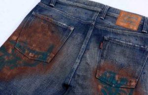 Ржавые пятна на джинсах