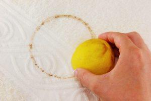 Лимон от пятен