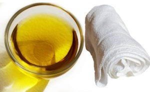 Отбеливание полотенец с маслом