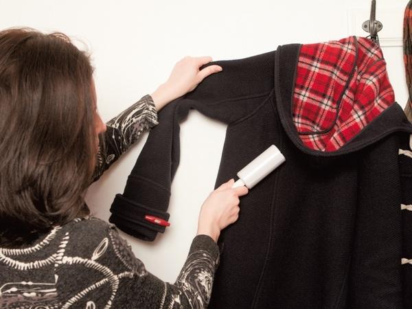 Как очистить пальто от волос