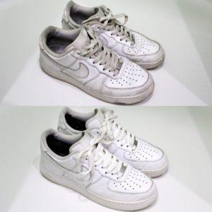 Отбеливание белых кроссовок