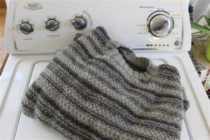 Стирка шерстяного свитера