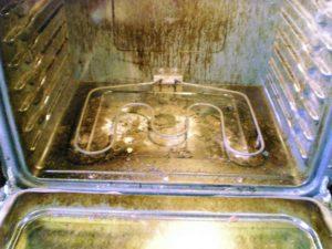 грязная духовка