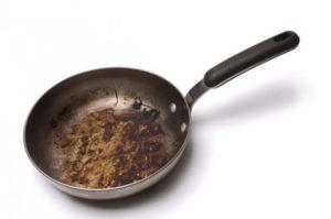 грязная сковорода