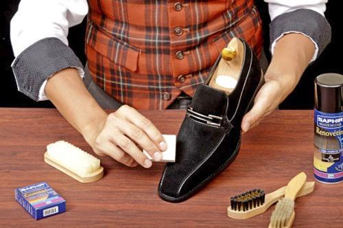 Уход за обувью из нубука