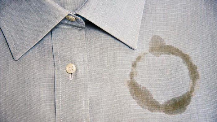 Масляное пятно на одежде