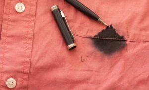 Пятна от чернил на одежде