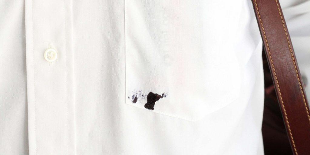 Как отстирать чернила с белой рубашки