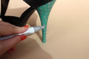 Удаление маркера с обуви