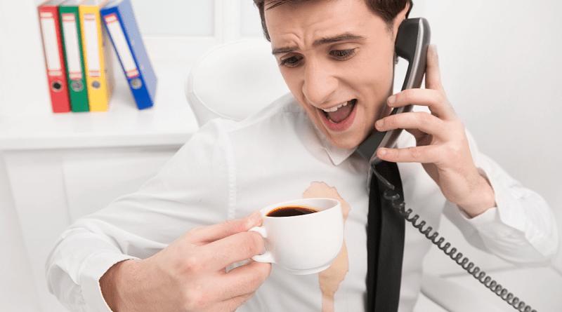 Пятна кофе на одежде