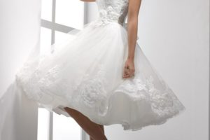 Крахмаление свадебного платья