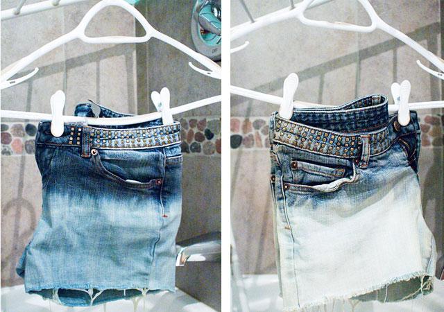 Осветление джинсов