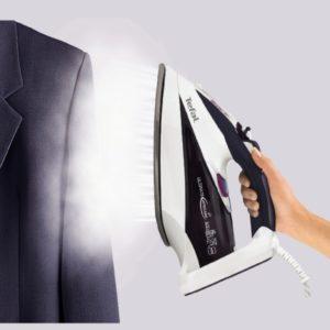 Обработка пальто паром