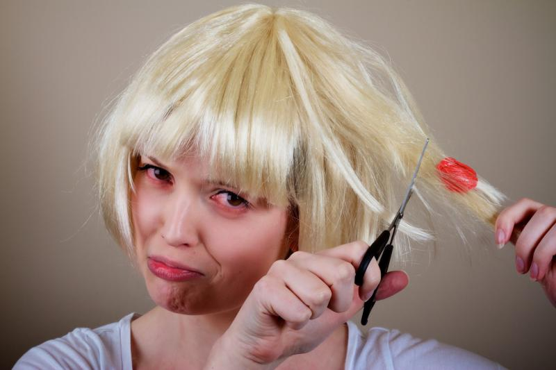 Жвачка на волосах