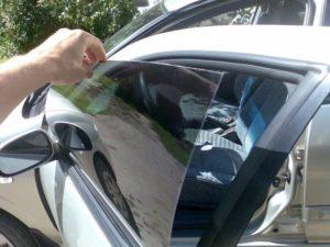Чем отмыть клей от тонировки со стекла