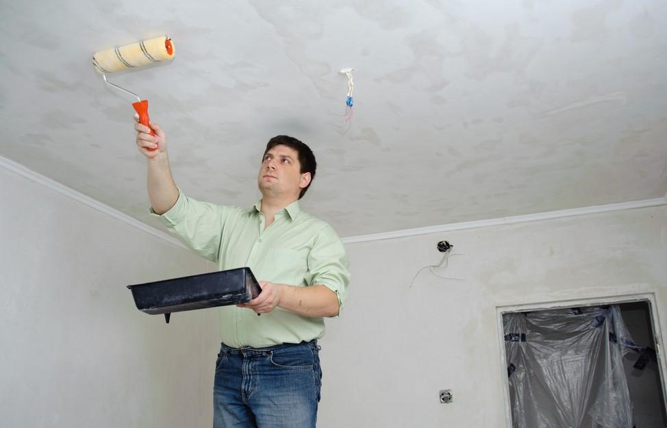 Снятие покрытия с потолка