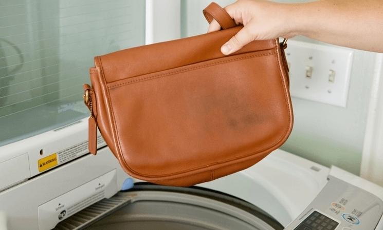 Стирка сумки в машинке