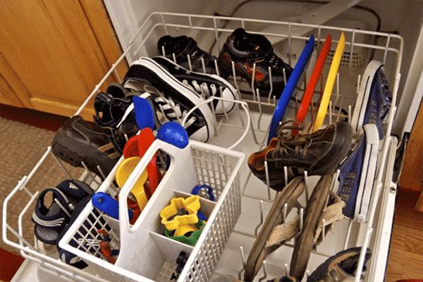 Кроссовки в посудомойке