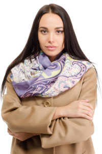 Как завязать палантин на пальто разными способами