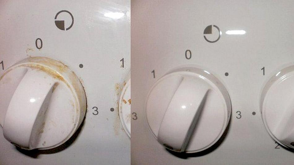 Чистка ручек от газовой плиты