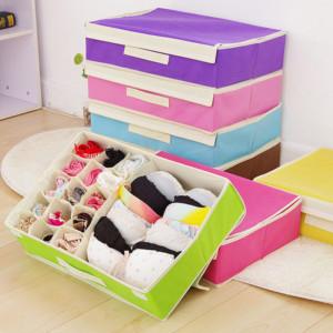 Хранение нижнего белья в шкафу экономя место
