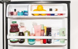 Хранение косметики в холодильнике в жару